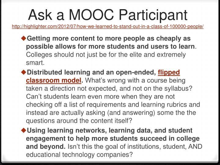 Ask a MOOC Participant