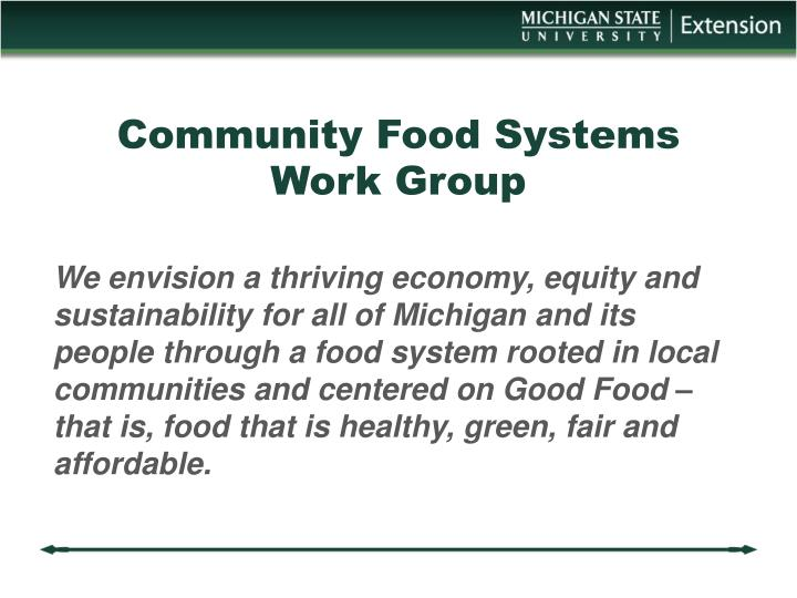 Community Food Systems Work Group