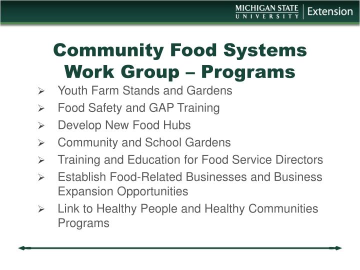 Community Food Systems
