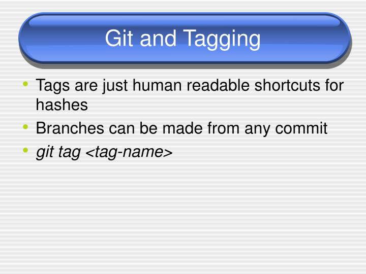 Git and Tagging
