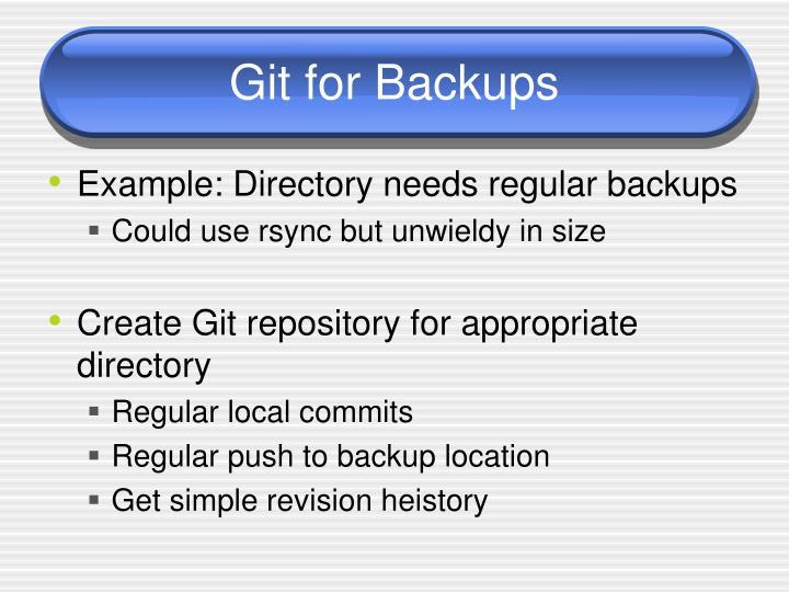 Git for Backups