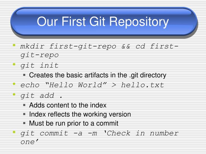 Our First Git Repository