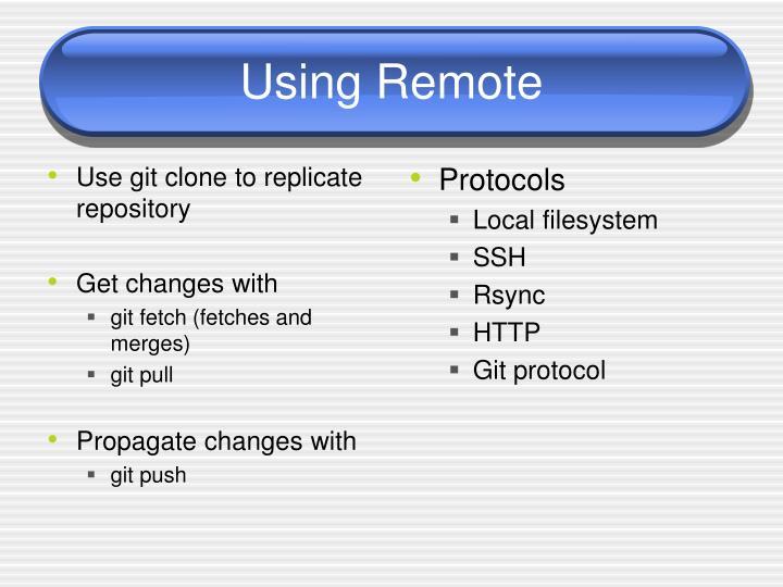 Use git clone to replicate repository