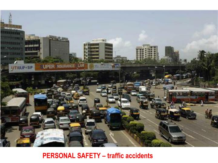 PERSONAL SAFETY – traffic accidents