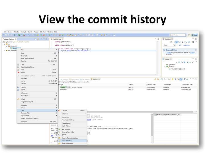 View the commit