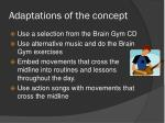 adaptations of the concept