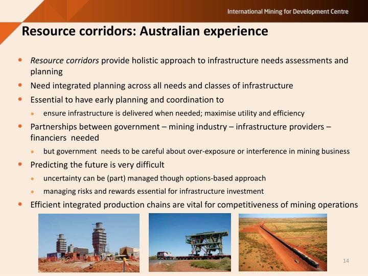 Resource corridors: Australian experience