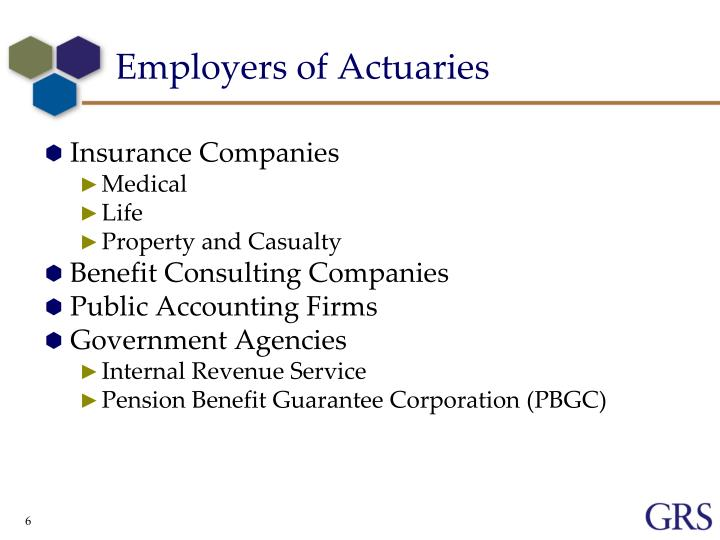Employers of Actuaries