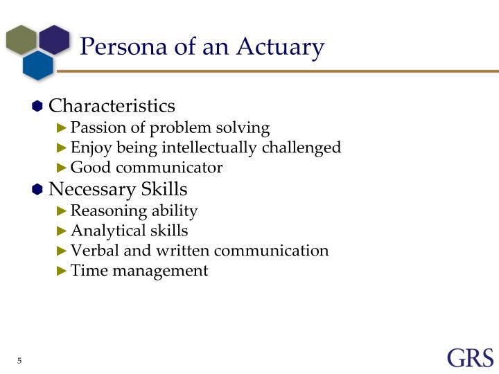 Persona of an Actuary