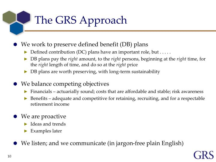 The GRS Approach