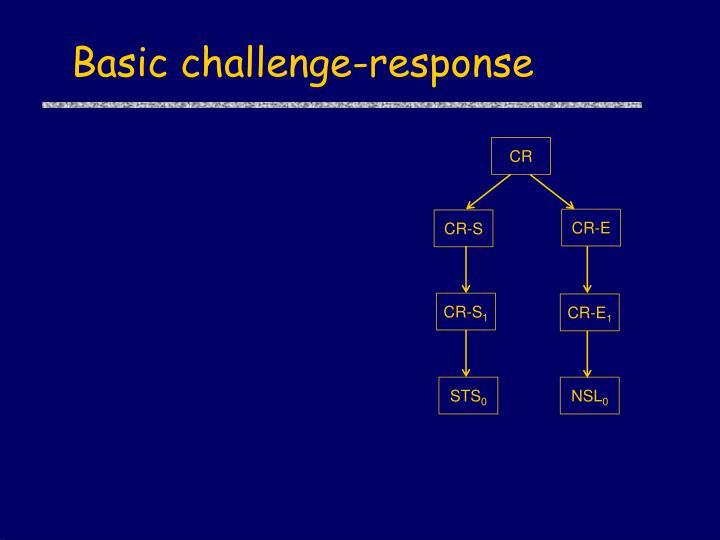 Basic challenge-response