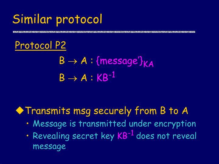 Similar protocol