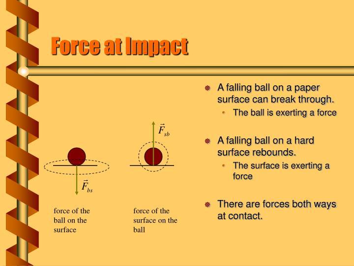 Force at Impact