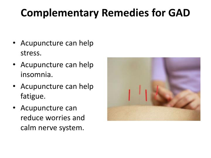 Complementary Remedies for GAD
