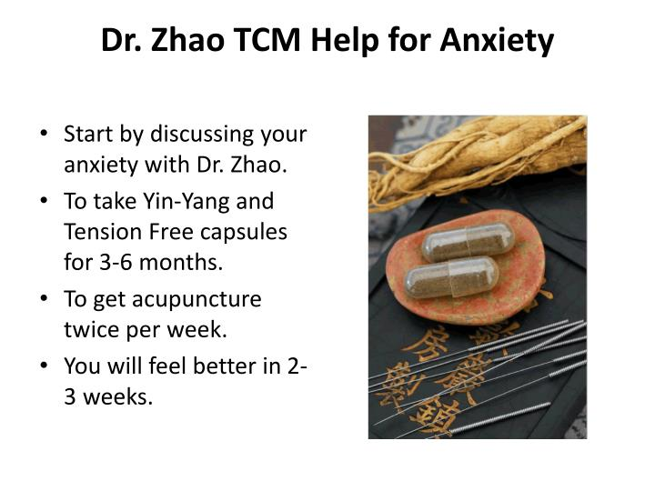Dr. Zhao TCM Help for Anxiety