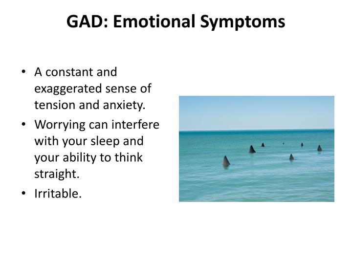 GAD: Emotional Symptoms