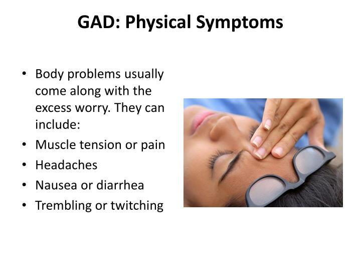 GAD: Physical Symptoms