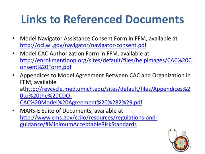 Links to Referenced Documents