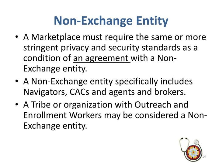Non-Exchange Entity