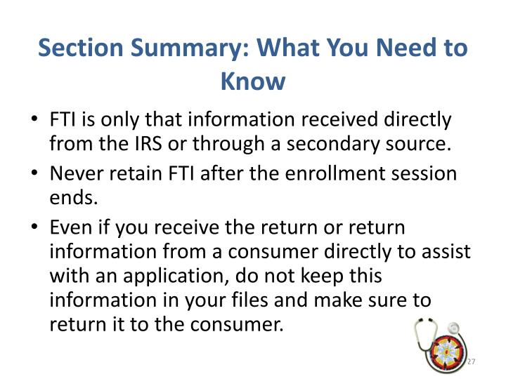 Section Summary: What You Need to Know