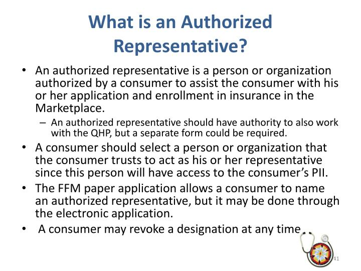 What is an Authorized Representative?