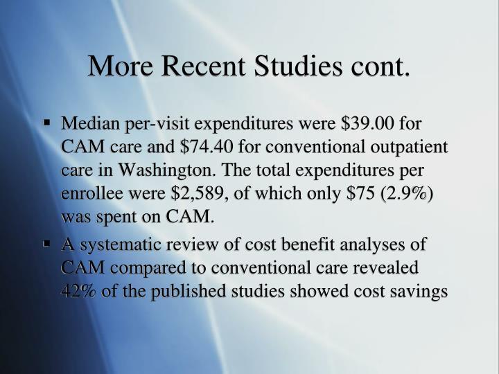 More Recent Studies cont.