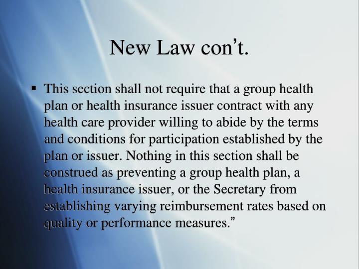 New Law con