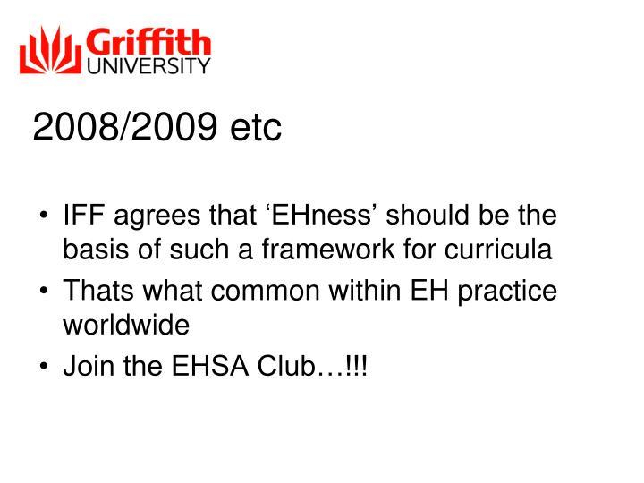 2008/2009 etc