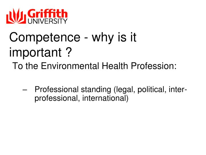 Competence - why is it important