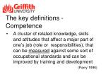 the key definitions competence