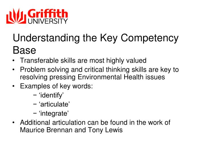 Understanding the Key Competency Base