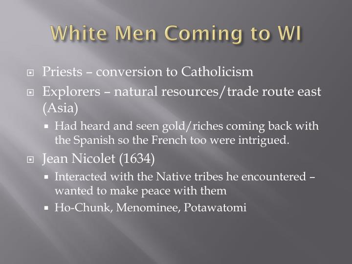 White Men Coming to WI