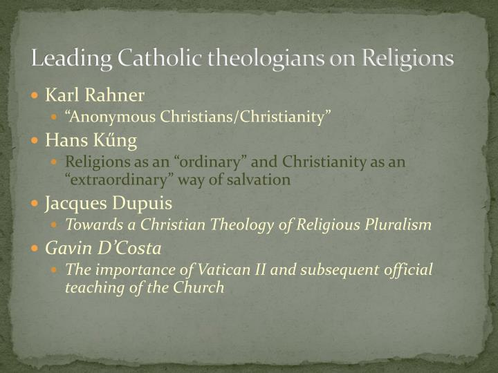 Leading Catholic theologians on Religions
