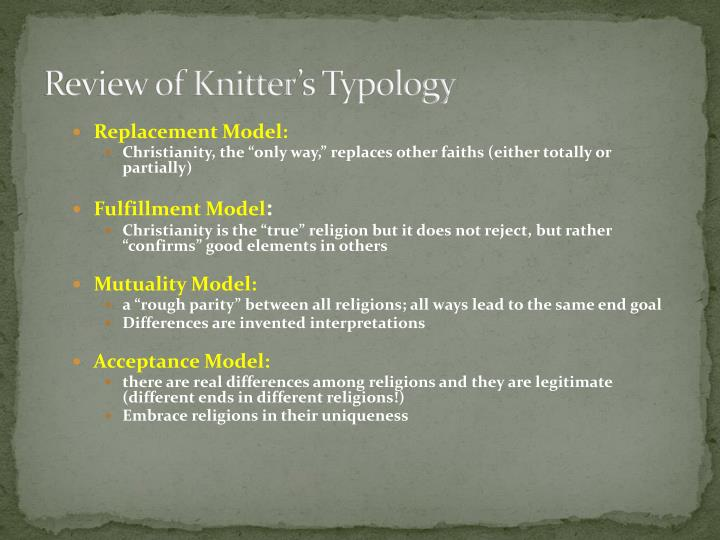 Review of knitter s typology
