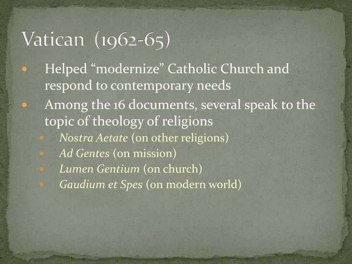 Vatican  (1962-65)