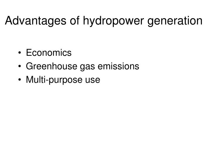 Advantages of hydropower generation
