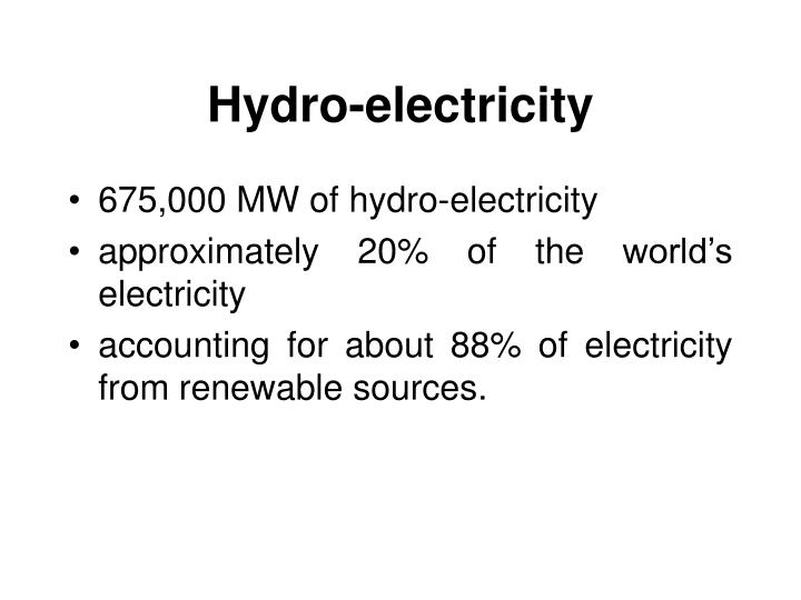 Hydro-electricity
