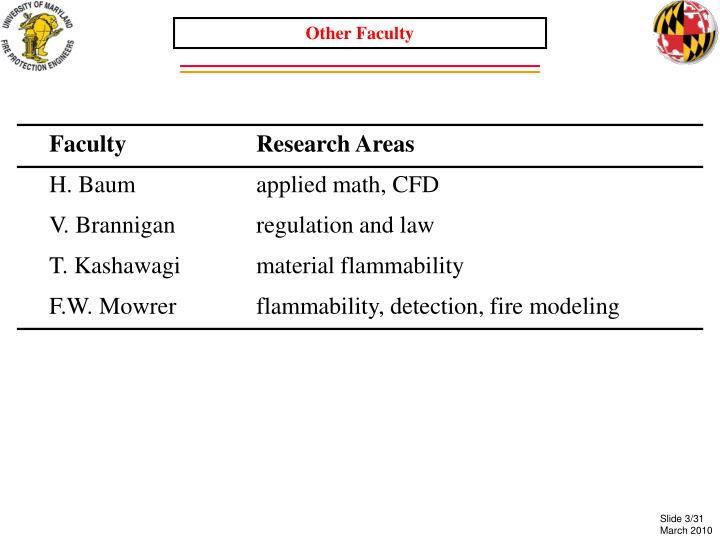 Other Faculty