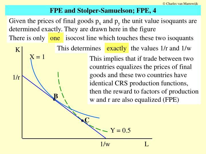 PPT - FPE and Stolper-Samuelson; tool: Lerner diagram, 1 ...