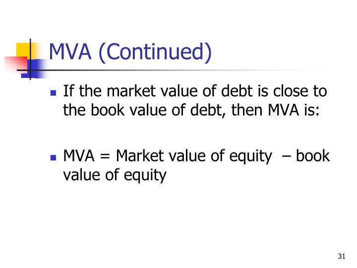 MVA (Continued)