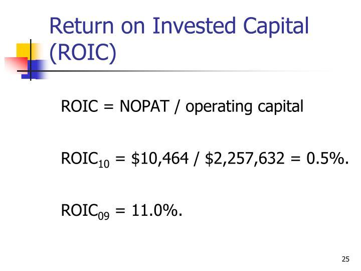 ROIC = NOPAT / operating capital