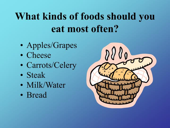 What kinds of foods should you eat most often?