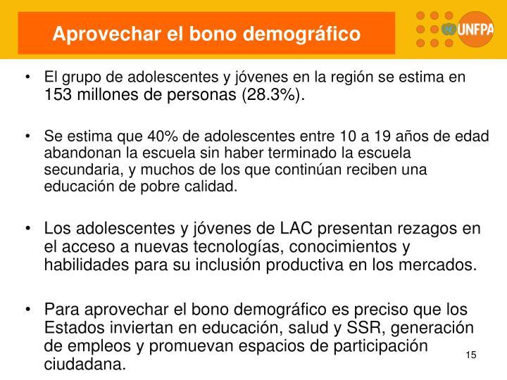 Aprovechar el bono demográfico