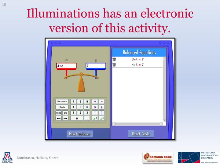 Illuminations has an electronic version of this activity.