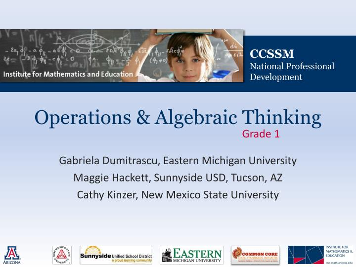 Operations algebraic thinking