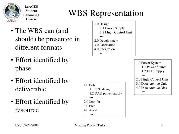 WBS Representation