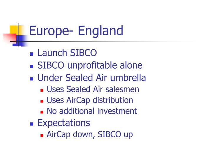 Europe- England