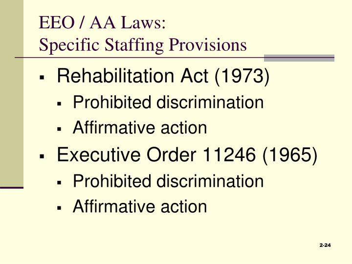EEO / AA Laws:
