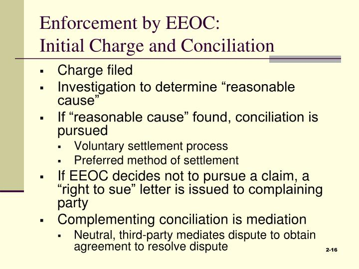 Enforcement by EEOC: