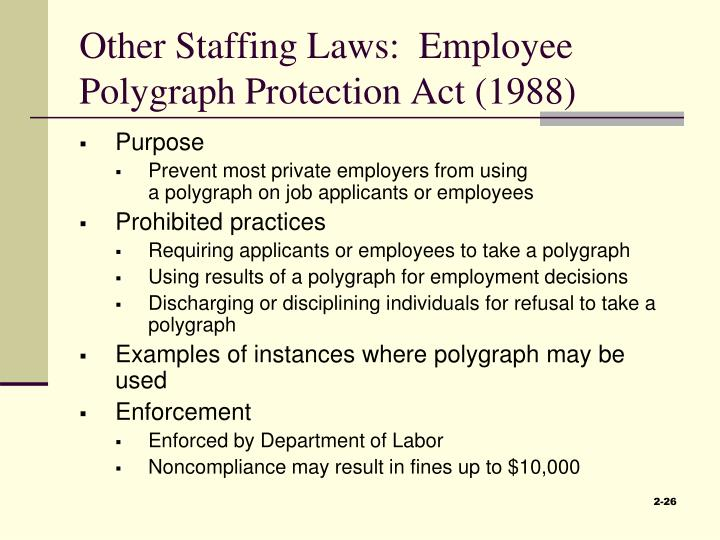 Other Staffing Laws:  Employee